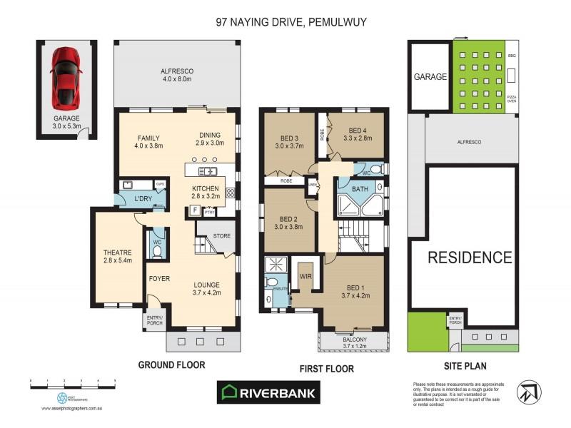 97 Naying Drive, Pemulwuy NSW 2145 Floorplan