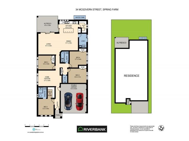 34 McGovern Street, Spring Farm NSW 2570 Floorplan