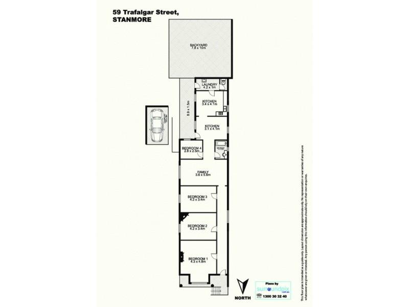 59 Trafalgar St, Stanmore NSW 2048 Floorplan