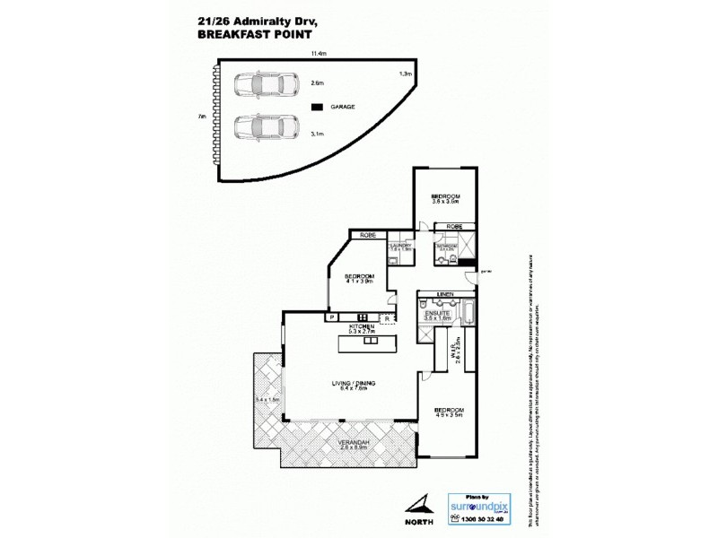 21 / 26 Admiralty Drv, Breakfast Point NSW 2137 Floorplan