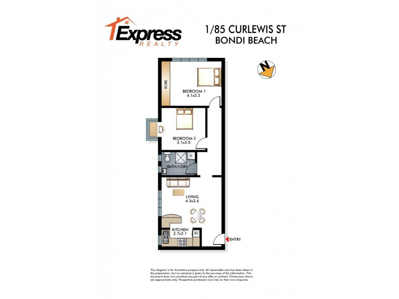 1/85 Curlewis Street, Bondi Beach NSW 2026 Floorplan