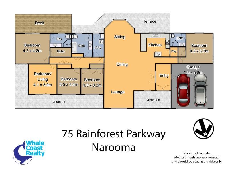 75 Rainforest Parkway, Narooma NSW 2546 Floorplan