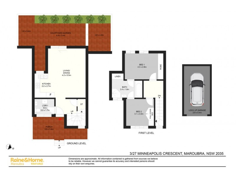 3/27 Minneapolis Cres, Maroubra NSW 2035 Floorplan