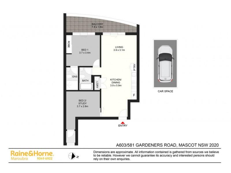 603/581-587 GARDENERS ROAD, Mascot NSW 2020 Floorplan