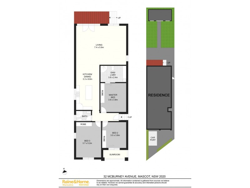 32 McBurney Avenue, Mascot NSW 2020 Floorplan