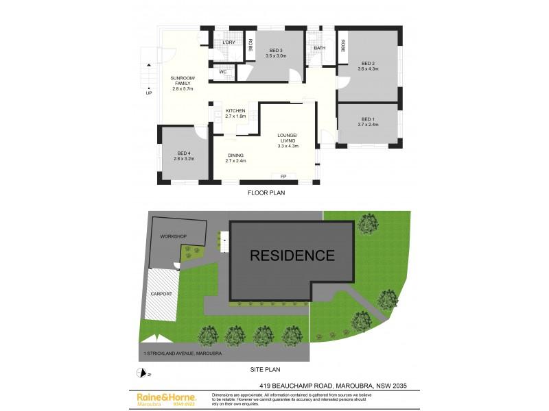 419 Beauchamp Road, Maroubra NSW 2035 Floorplan