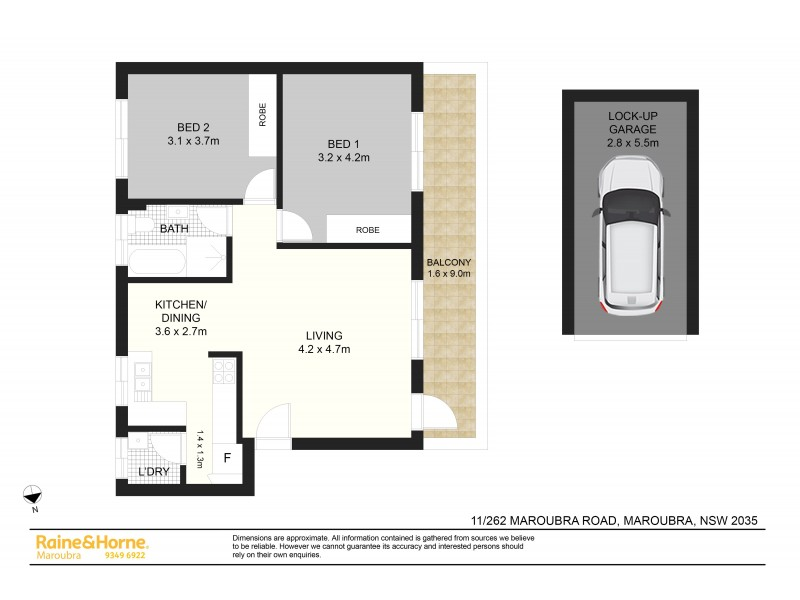 11/262 Maroubra Road, Maroubra NSW 2035 Floorplan