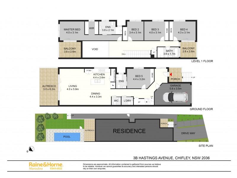 3A & 3B Hastings Avenue, Chifley NSW 2036 Floorplan
