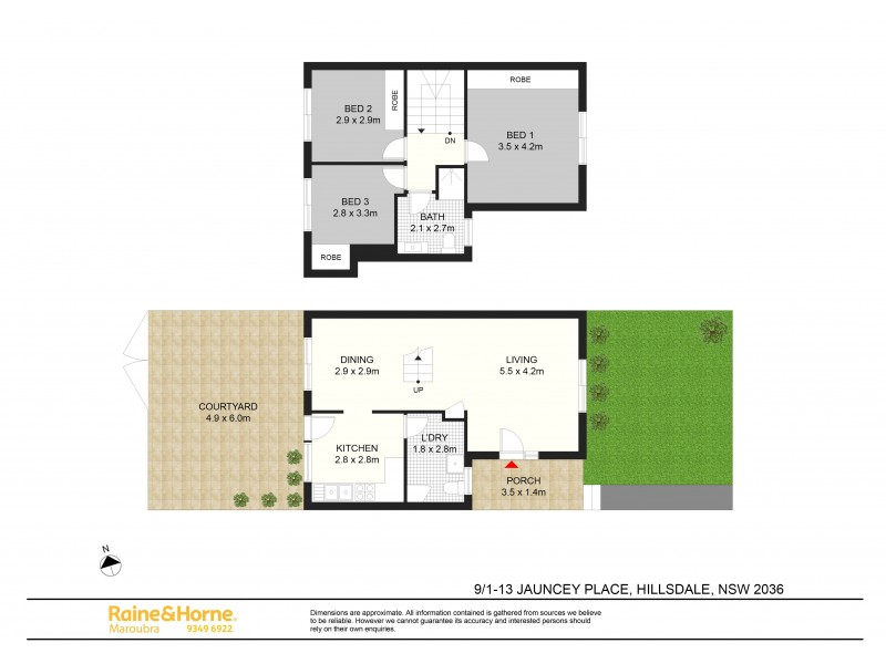 9/1-13 Jauncey Place, Hillsdale NSW 2036 Floorplan