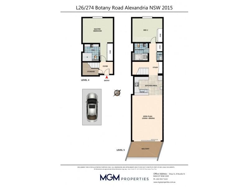 L26/274 Botany Road, Alexandria NSW 2015 Floorplan