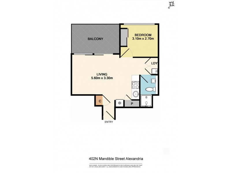 402N/2-6 Mandible Street, Alexandria NSW 2015 Floorplan