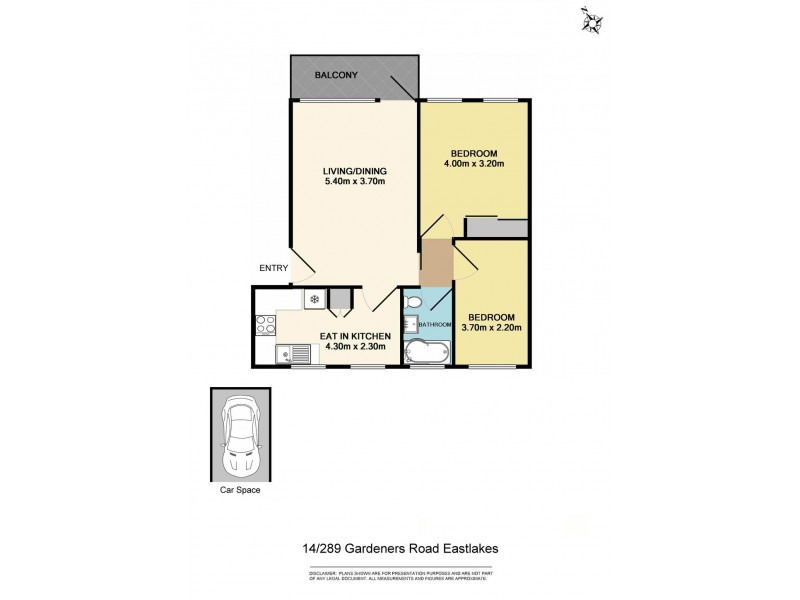 14/289 Gardeners Road, Eastlakes NSW 2018 Floorplan