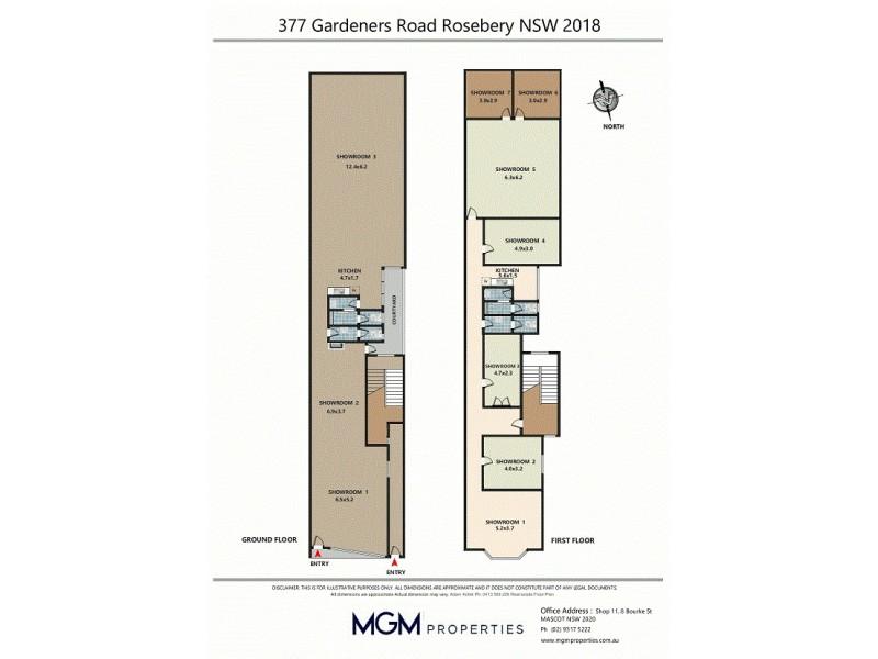 377 Gardeners Road, Rosebery NSW 2018 Floorplan