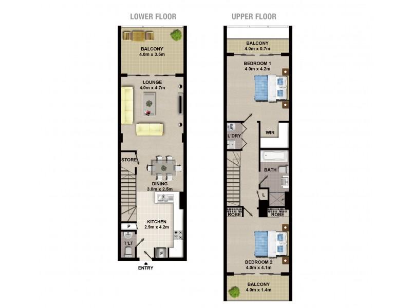 907A/8 Bourke Street, Mascot NSW 2020 Floorplan
