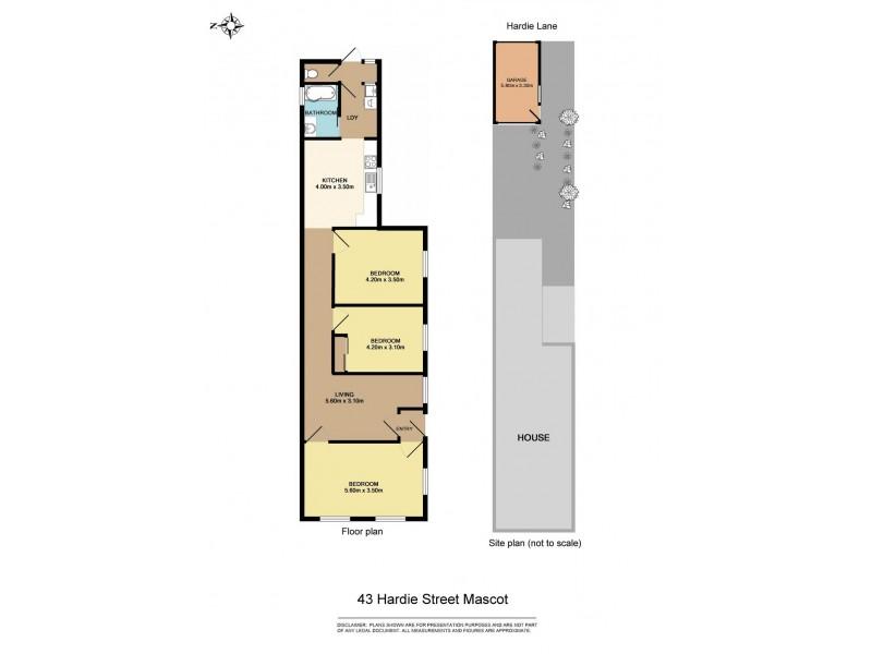 43 Hardie Street, Mascot NSW 2020 Floorplan