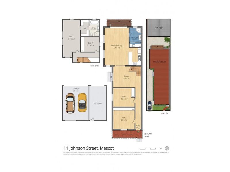 11 Johnson Street, Mascot NSW 2020 Floorplan
