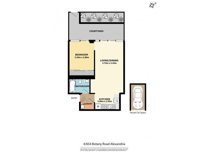 4/654 Botany Road, Alexandria NSW 2015 Floorplan