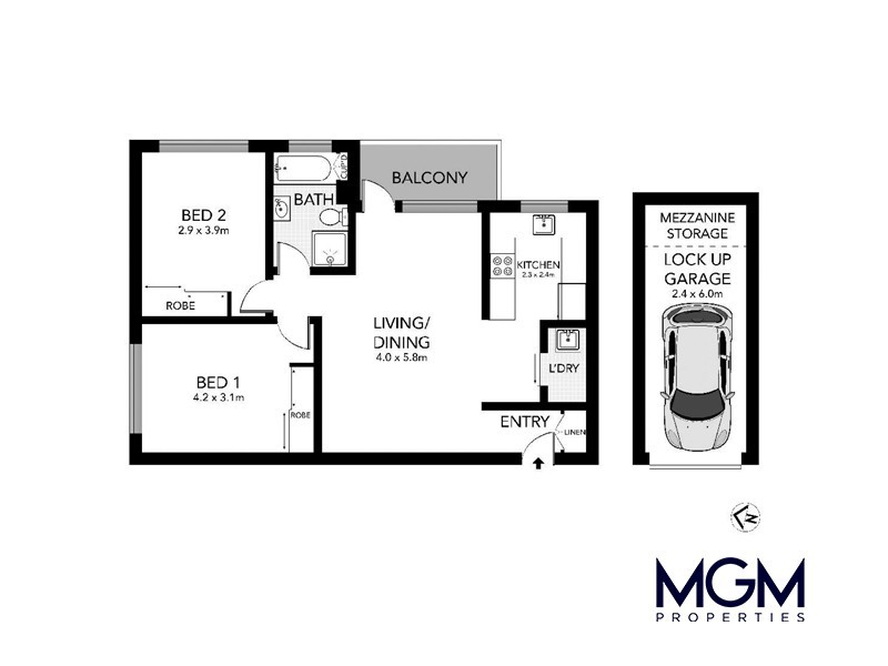 30/68 Mascot Drive, Eastlakes NSW 2018 Floorplan