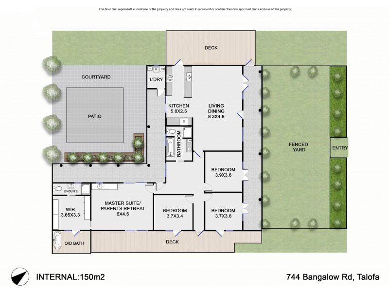 744 Bangalow Road, Bangalow NSW 2479 Floorplan