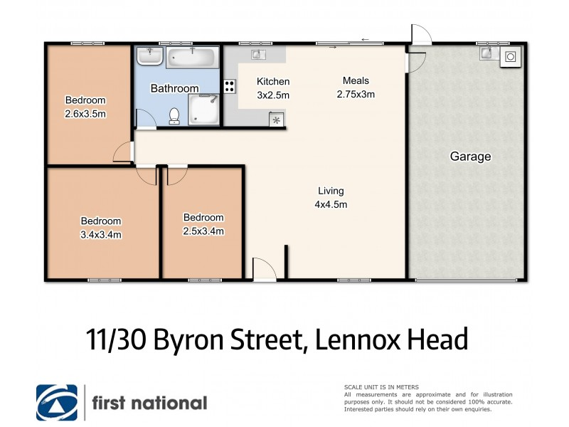 11/30 Byron Street, Lennox Head NSW 2478 Floorplan