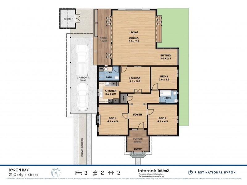 21 Carlyle Street, Byron Bay NSW 2481 Floorplan