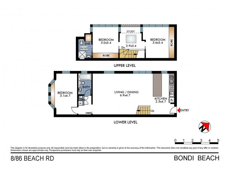 8/86 Beach Road, Bondi Beach NSW 2026 Floorplan