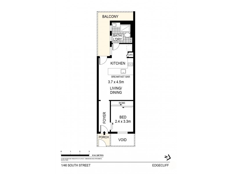 1/46 South Street, Edgecliff NSW 2027 Floorplan
