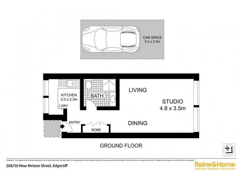 208/10 New McLean Street, Edgecliff NSW 2027 Floorplan