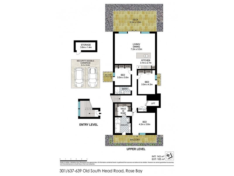 301/637-639 Old South Head Road, Rose Bay NSW 2029 Floorplan