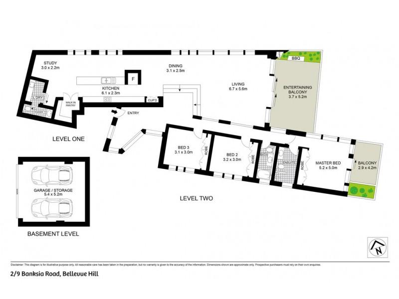 2/9 Banksia Road, Bellevue Hill NSW 2023 Floorplan