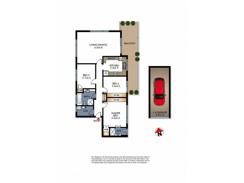 1a/7-9 Clarke Street, Vaucluse NSW 2030 Floorplan