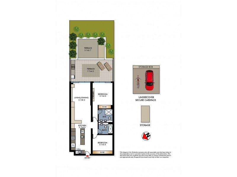 208/180-186 Campbell Parade, Bondi Beach NSW 2026 Floorplan