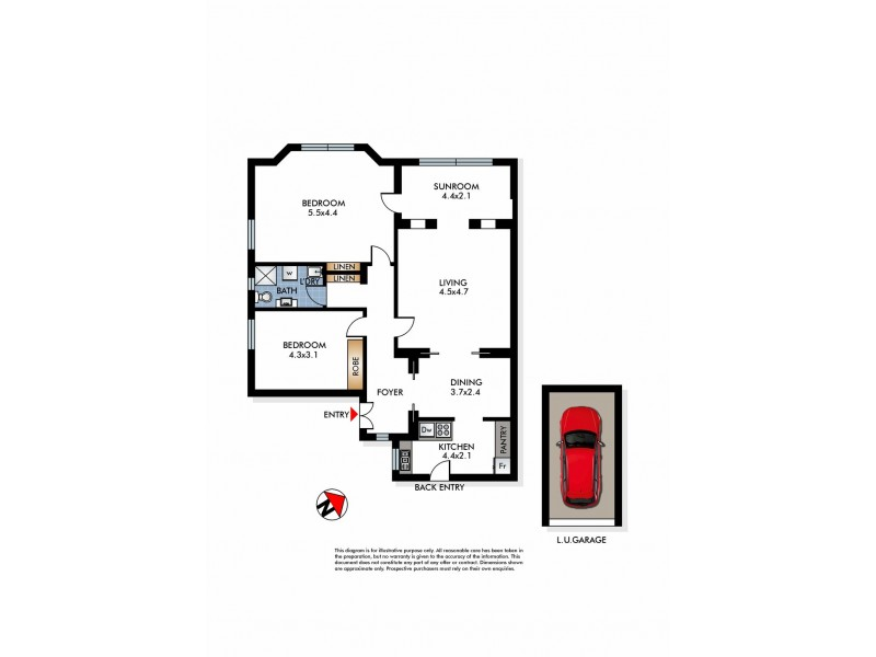 17/1A Caledonian Road, Rose Bay NSW 2029 Floorplan