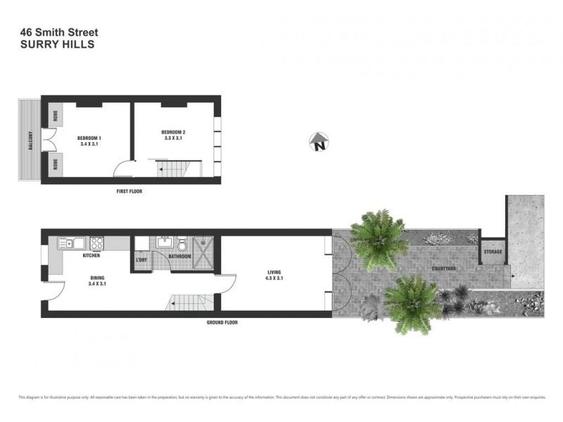 46 Smith Street, Surry Hills NSW 2010 Floorplan