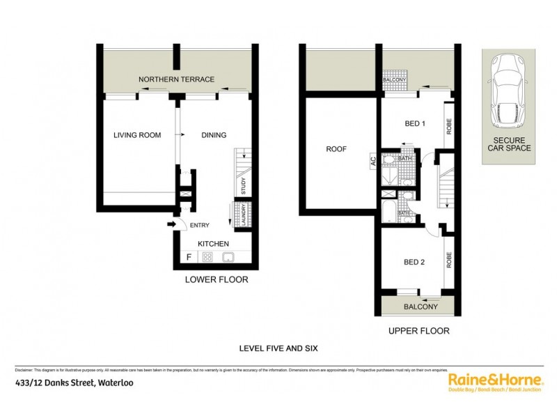 433/12 Danks Street, Waterloo NSW 2017 Floorplan
