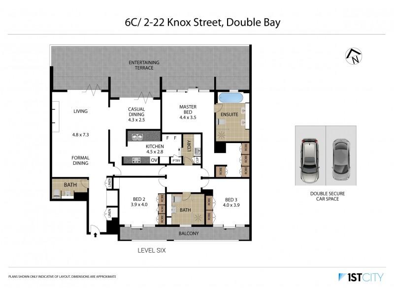6C/2-22 Knox Street, Double Bay NSW 2028 Floorplan