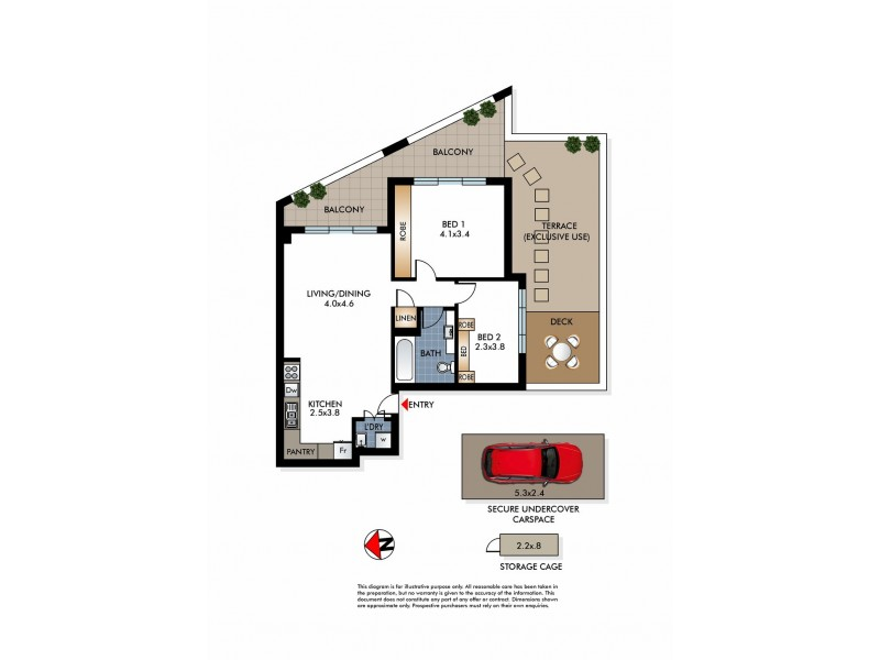 5/70 Perouse Road, Randwick NSW 2031 Floorplan