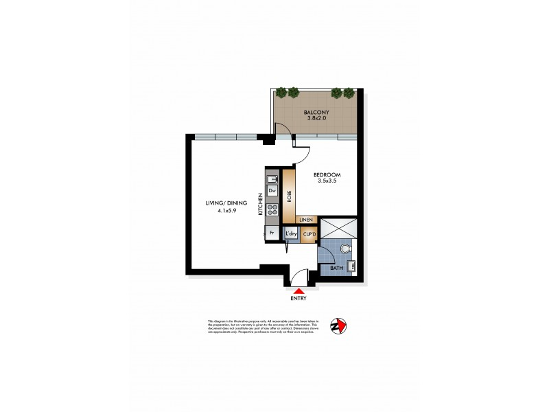 7/19 Young Street, Vaucluse NSW 2030 Floorplan