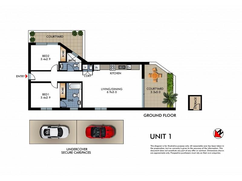1/2 Warners Avenue, North Bondi NSW 2026 Floorplan