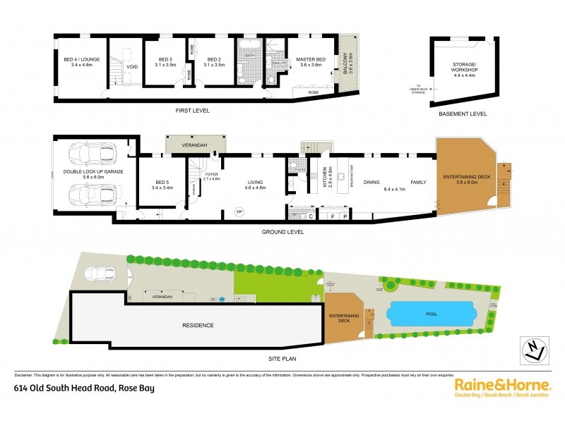 614 Old South Head Road, Rose Bay NSW 2029 Floorplan
