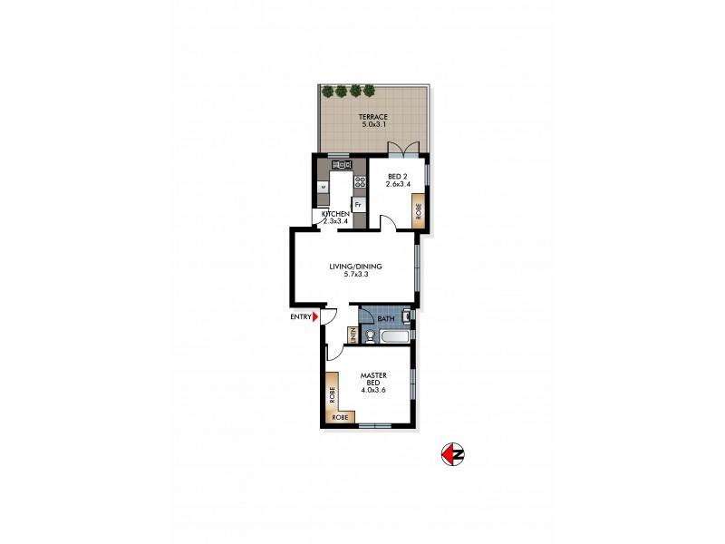 8/82 Drumalbyn Road, Bellevue Hill NSW 2023 Floorplan