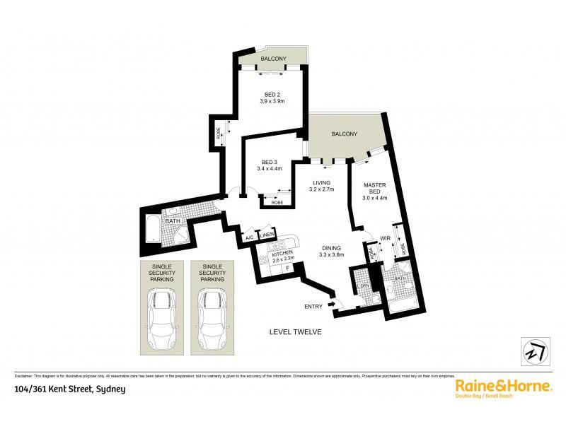 104/361-363 Kent Street, Sydney NSW 2000 Floorplan