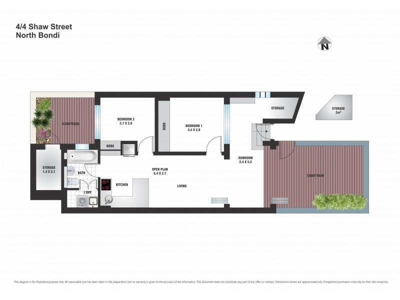 4/4 Shaw Street, North Bondi NSW 2026 Floorplan