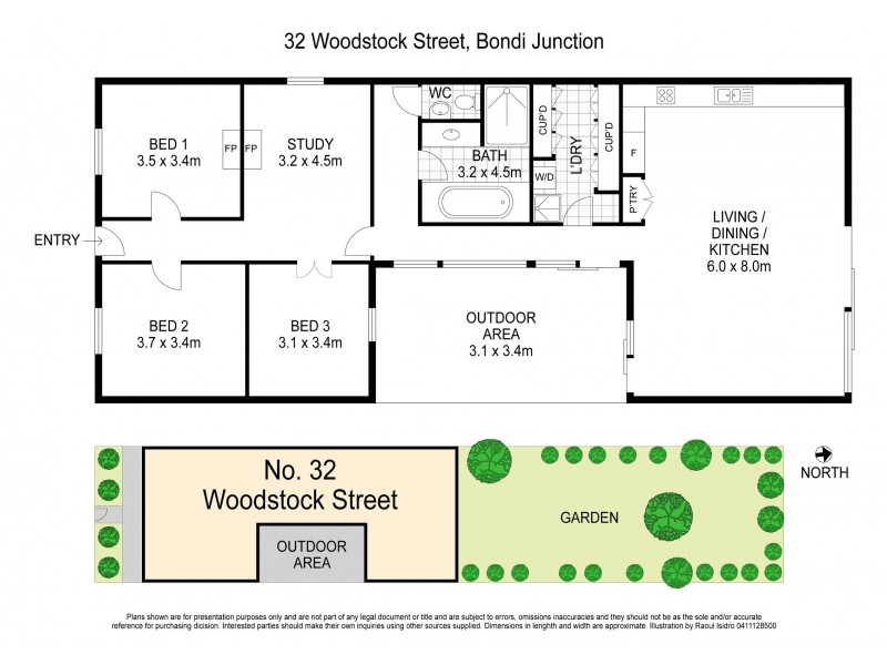 32 Woodstock Street, Bondi Junction NSW 2022 Floorplan