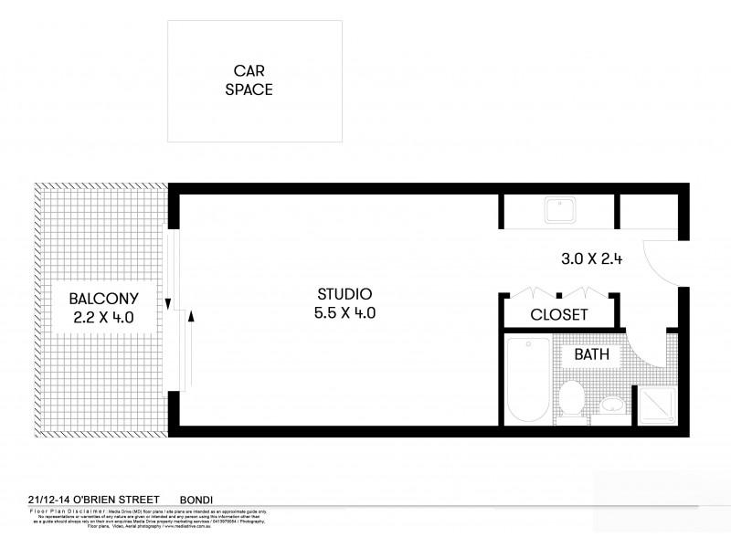 21/14-16 O'Brien Street, Bondi Beach NSW 2026 Floorplan