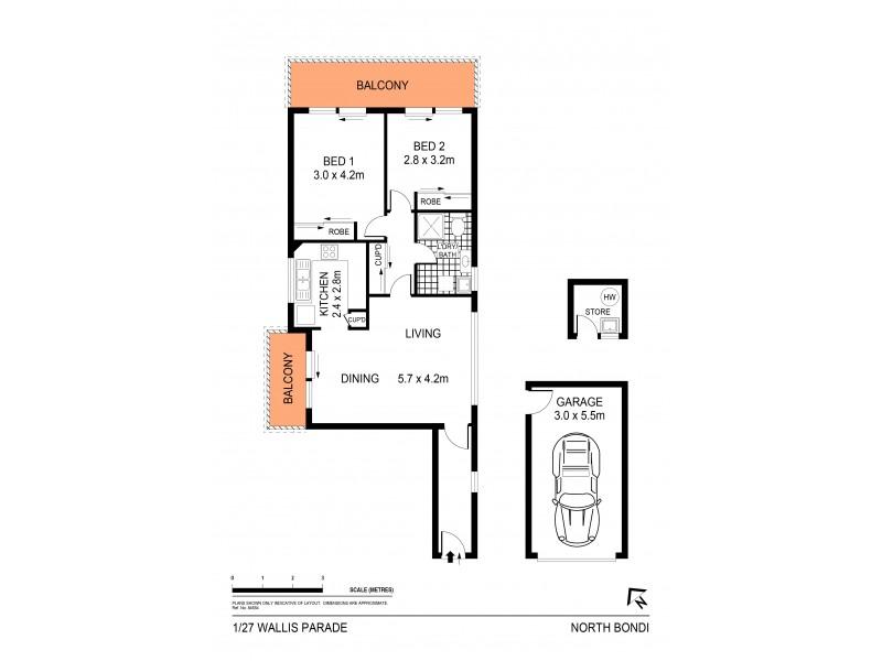 1/27 Wallis Parade, North Bondi NSW 2026 Floorplan