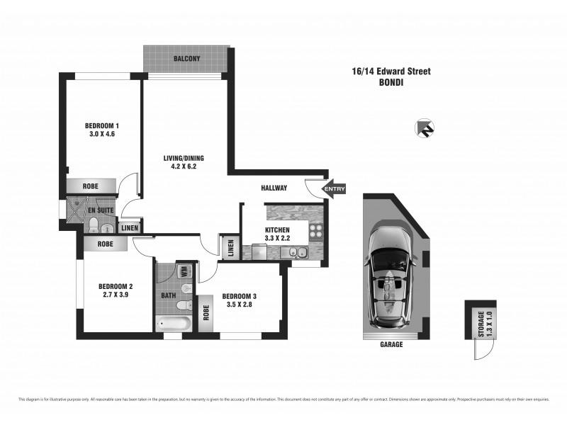 16/14 Edward Street, Bondi NSW 2026 Floorplan