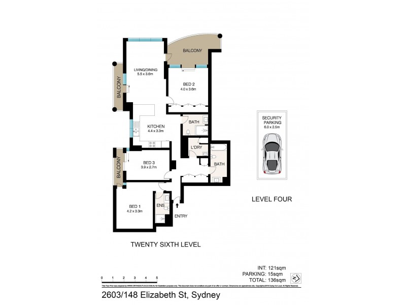 2603/148 Elizabeth Street, Sydney NSW 2000 Floorplan