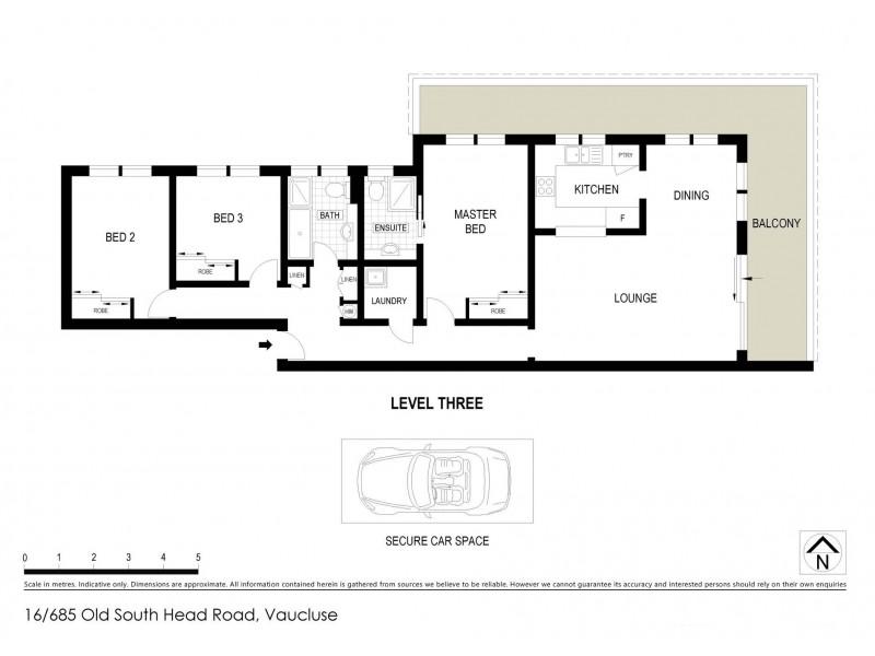 16/685 Old South Head Road, Vaucluse NSW 2030 Floorplan