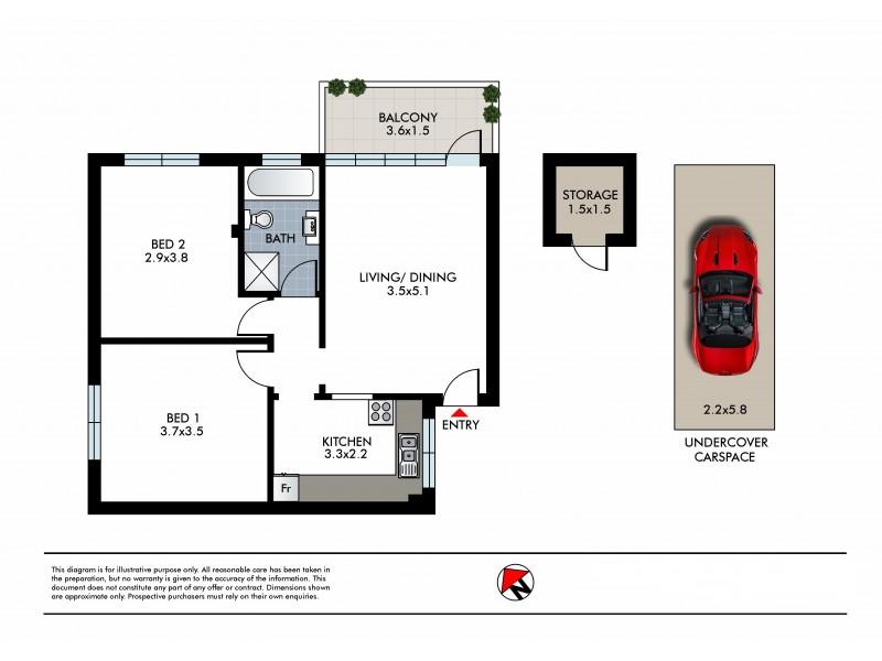 72 Curlewis Street, Bondi Beach NSW 2026 Floorplan